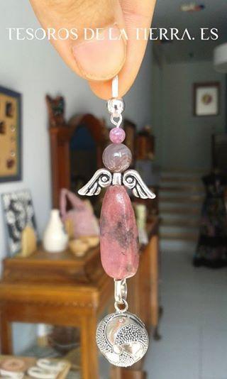 Llamador de angeles con minerales